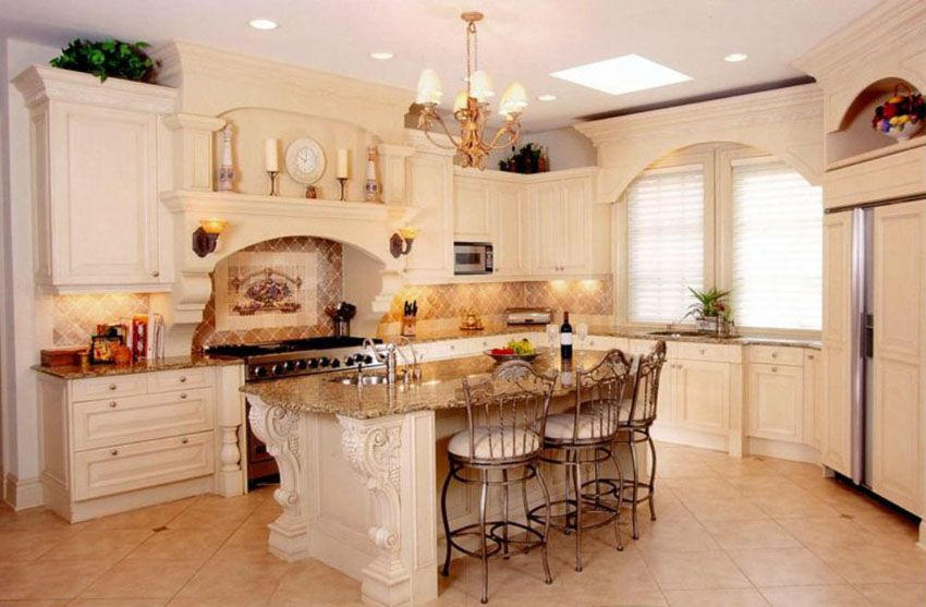 29 Beautiful Cream Kitchen Cabinets (Design Ideas) | Kitchen .