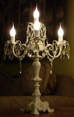 Chandeliers I've Made (With images) | Chandelier table lamp, Table .