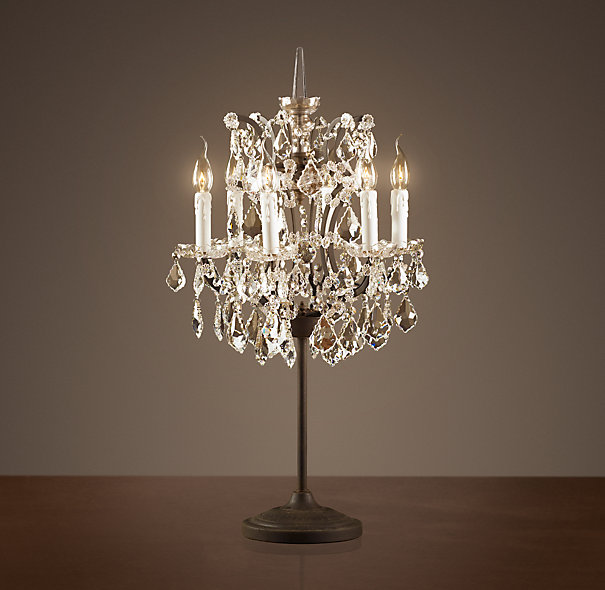 Crystal chandelier table lamps - 15 ways to make any home shine .