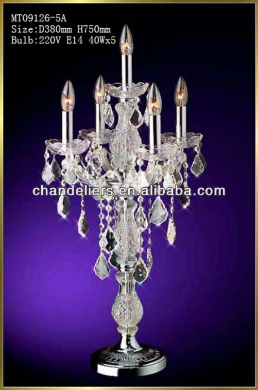 Cheap Crystal Chandelier Table Lamp For Wedding - Buy Chandeliers .