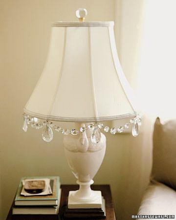 Crystal Lamp Shades For Table Lamps | Diy lamp shade, Lamp shades .