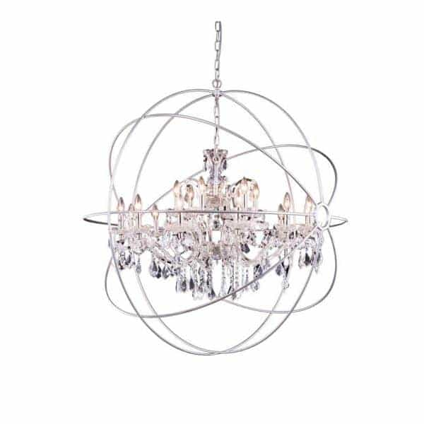 "Cosmopolitan 18-Light 43"" Crystal Orb Chandelier 