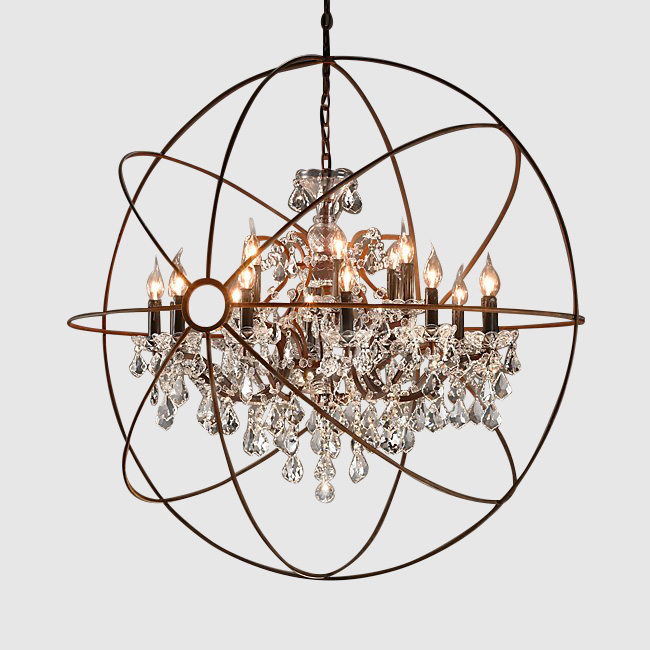 Crystal Orb Chandelier - Standard Party Rentals - San Jo
