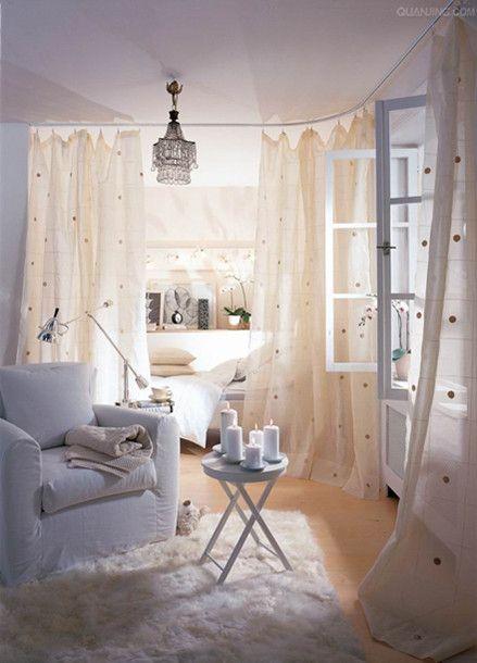 studio apartment I like the fresh clean feel of white and .