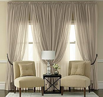 Not a fan of sheers but oh boy--this is so elegant.#Repin By .
