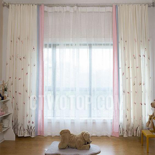Cute Butterfly Dragonfly Curtains Pink Teen Girls Drapes Bedroom .