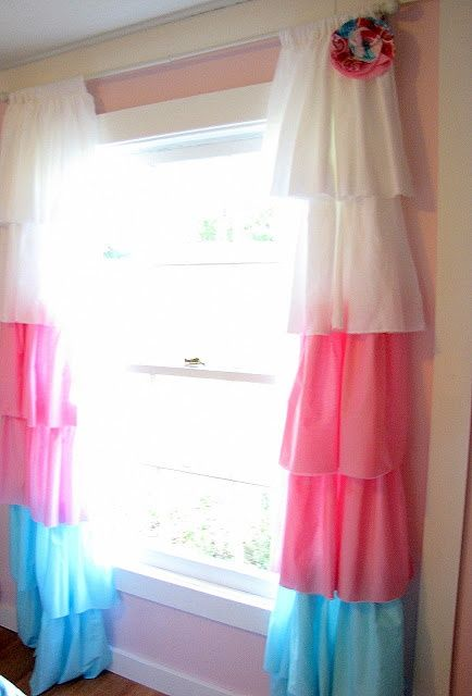 25 Adorable DIY Kids Curtains | Girls bedroom curtains, Kids .