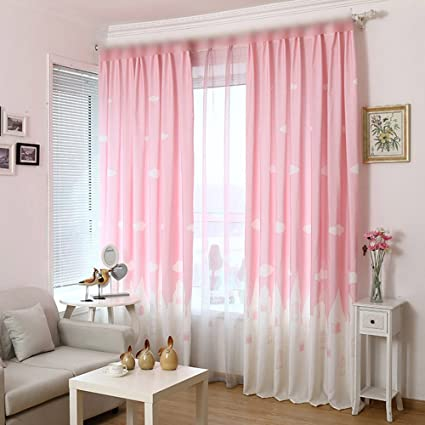 Amazon.com: pureaqu Children Castle of Angle Print Curtains For .