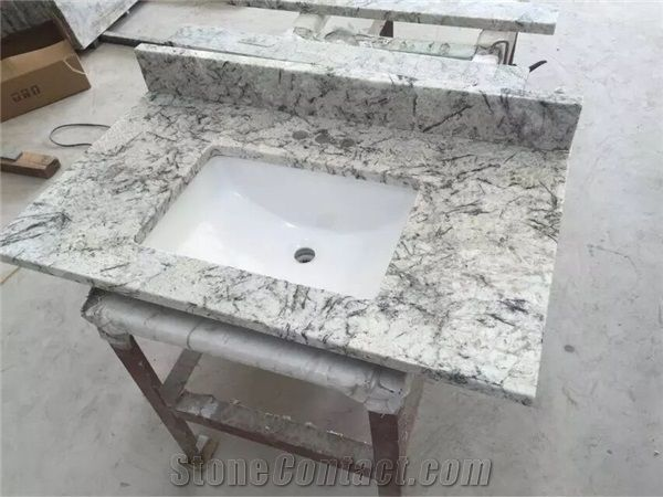 Brazil Ice Granite Bathroom Countertops and White Custom .