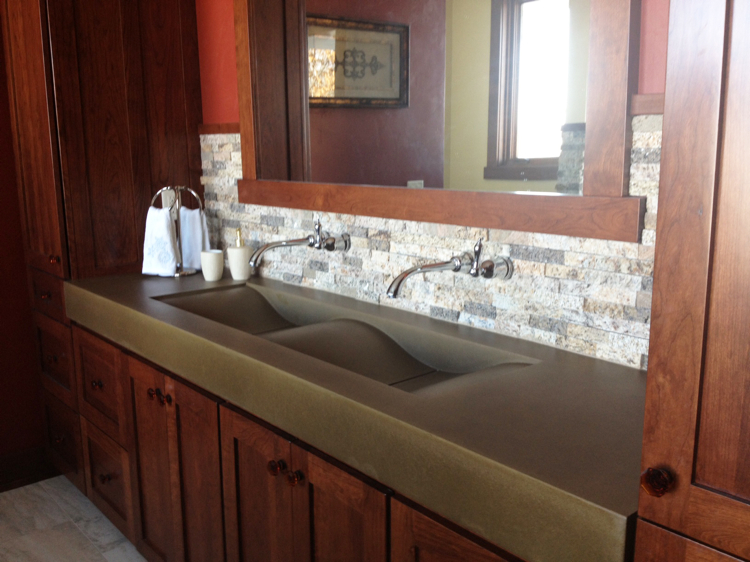 Concrete Bathroom Counters and Sin