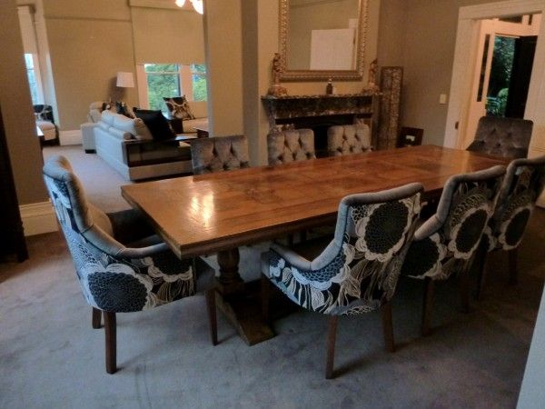 Buy Online Parquetry Dining Table with Custom Upholstered Dining .