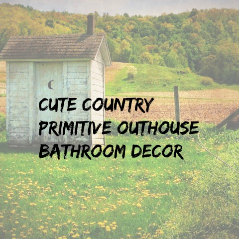 Cute Primitive Outhouse Bathroom Dec