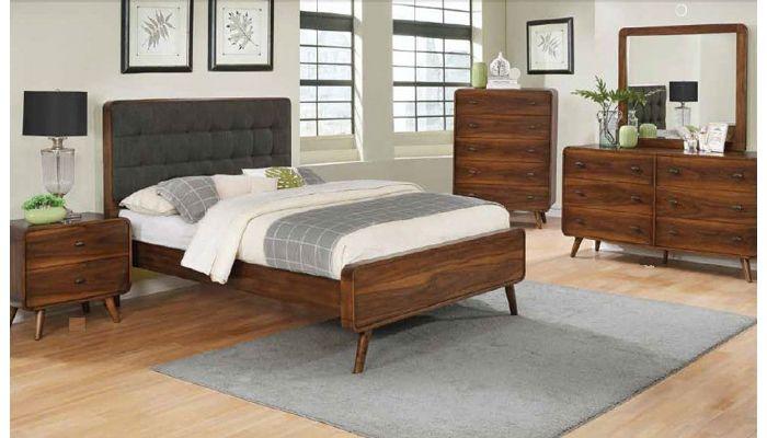 Zaira Mid Century Modern Bedroom Furnitu