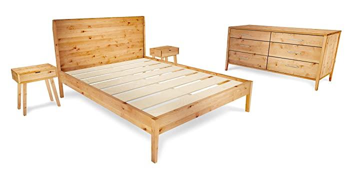 Amazon.com: Mid-Century Modern 4-Piece Bedroom Furniture Set: Handma