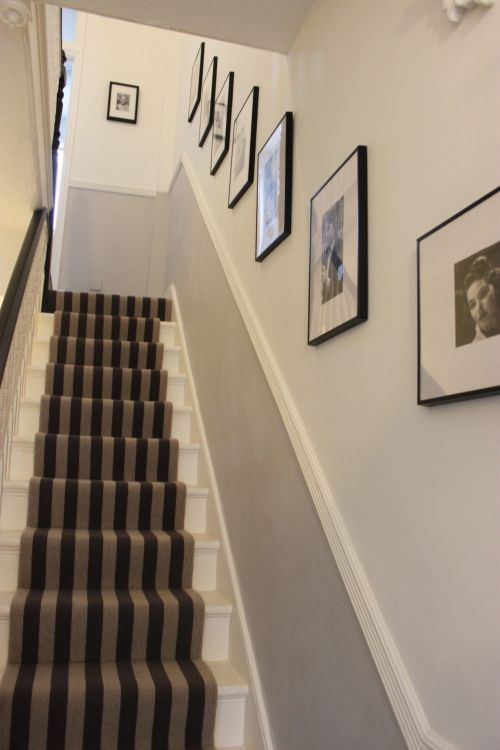 Runner, rail, colours and pics! | Narrow hallway decorating, Small .