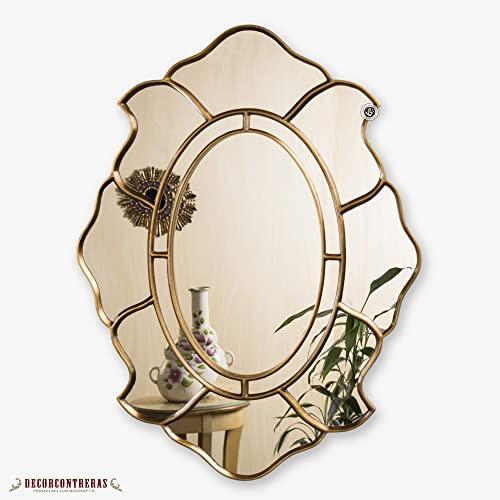Amazon.com: Gold Oval Accent Wall Mirror, Decorative Oval Mirror .