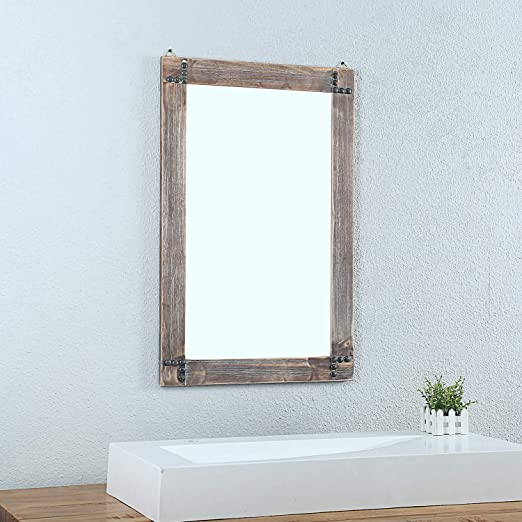 Amazon.com: Weven 24in x 36in Rustic Wood Frame Hanging Wall .