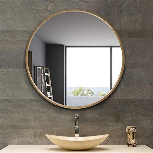 Amazon.com: Bedroom bathroom frame wall mirror Decorative Round .