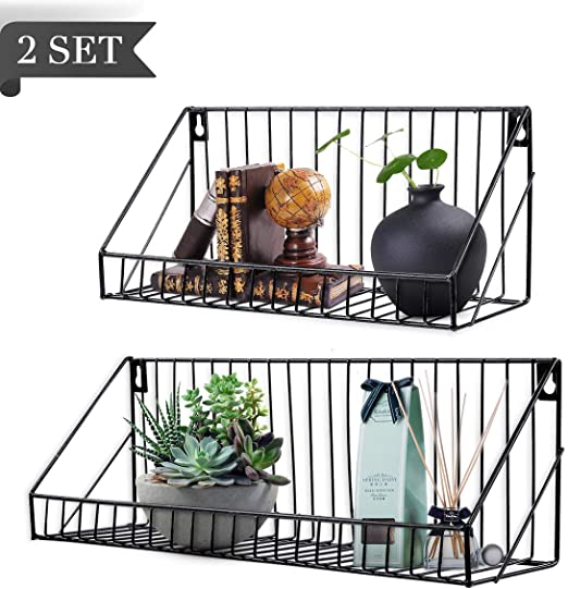 Amazon.com: AGSIVO Floating Shelves for Bathroom Wall Shelf with .