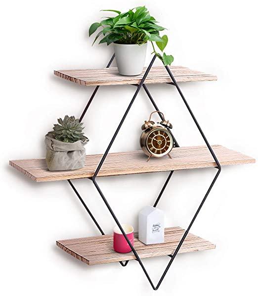 Amazon.com: KINGSO Wall Shelf Rustic Wood Floating Shelves .