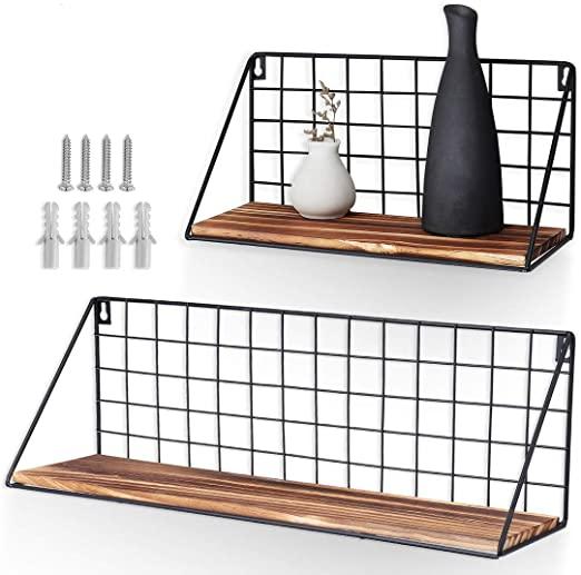 Amazon.com: AGSIVO Floating Shelves for Bathroom Wall Shelf Set of .
