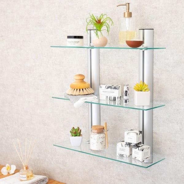 Shop Danya B. Bathroom Shelving Unit - Decorative Wall-Mount 3 .