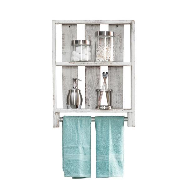 Del Hutson Designs Bathroom Plank 4in x 24in x 18in White .