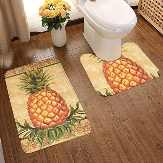 Amazon.com: Pineapple Fruit Decorative Large Plush Bathroom Rug .