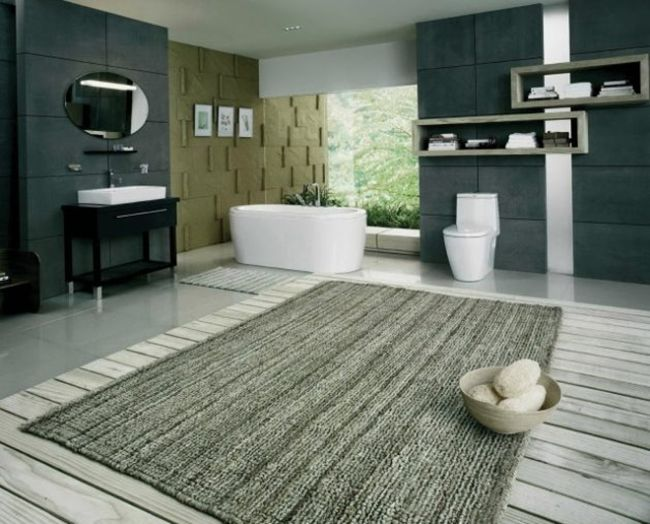 Grey Large Bathroom Rug | Large bathroom rugs, Large bath rugs .