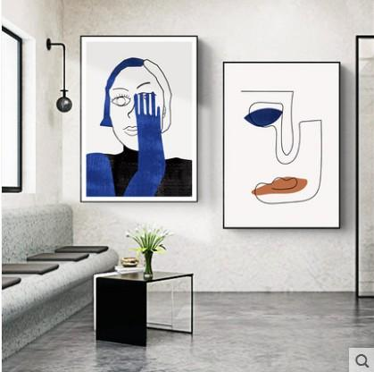 2020 Hide Postmodern Decorative Painting Living Room With Twin .