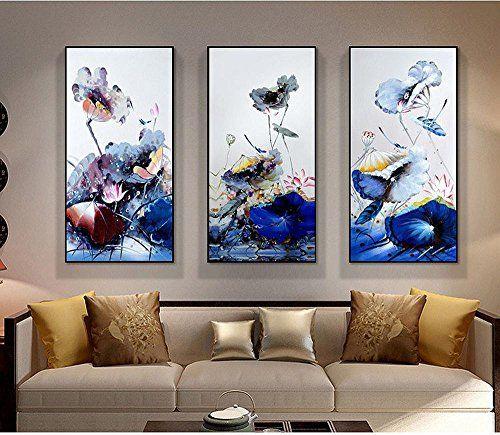 $266.2 - DIDIDD Lotus Modern Entrance Decorative Paintings Living .