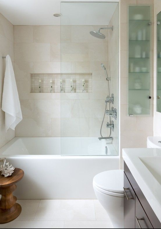 for the kids - deep tub in a small bathroom | Small space bathro