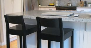 Kitchen bar stools. Black, wooden? With chair back. (With images .