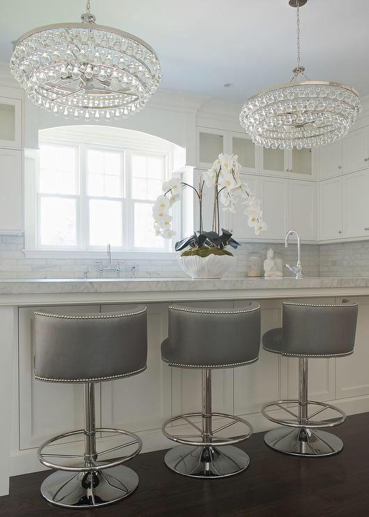 gray-swivel-barrel-back-counter-stools-silver-nailhead-trim .