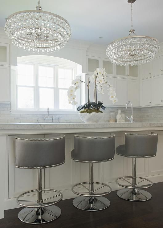 Kitchen | Kitchen bar stools, Kitchen island stools with backs .