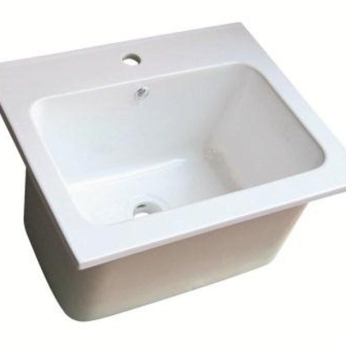 42 Porcelain Laundry Sink, Laundry: Antique Vintage #039 .
