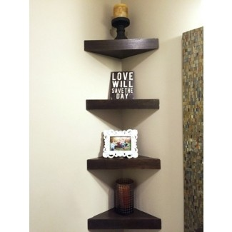 Wooden Corner Shelves - Ideas on Fot
