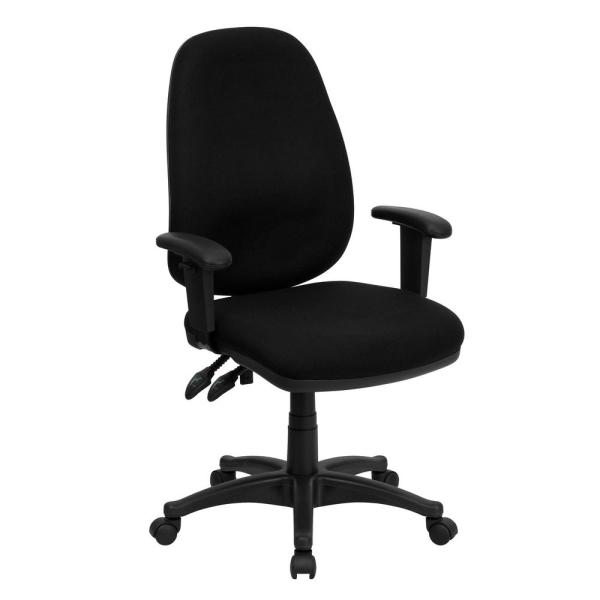 Flash Furniture High Back Black Fabric Executive Ergonomic Swivel .