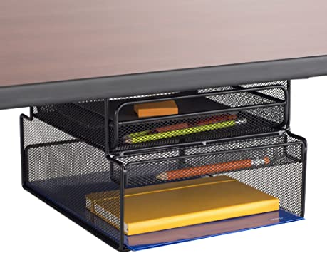 Amazon.com : Safco Products 3244BL Onyx Mounted Under-Desk Hanging .