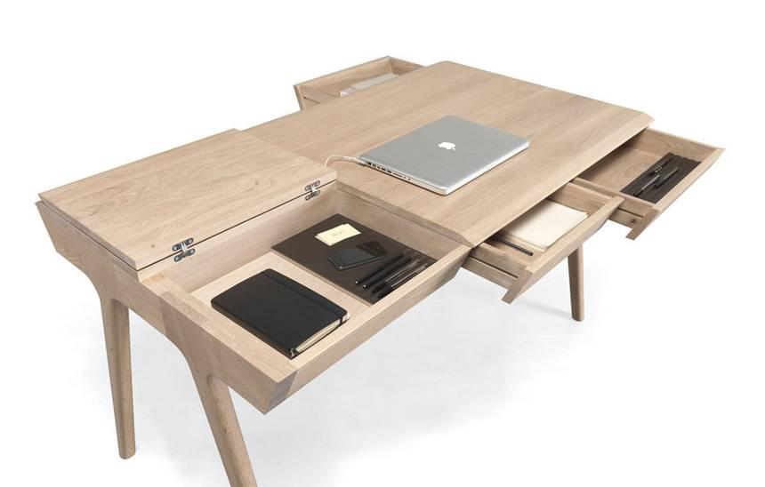 Ergonomically crafted & minimalist Metis desk is full of hidden .
