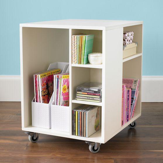 Rolling Under-Desk Storage | Under desk storage, Desk storage .