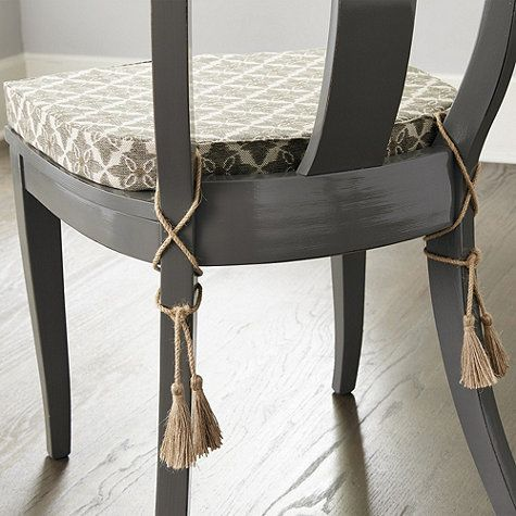 New Dining Chair Cushions With Ties - Really Inspiring Desi