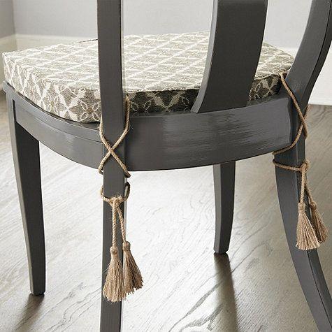Dining Room Chair Cushions With Ties   Stolar och Inredni
