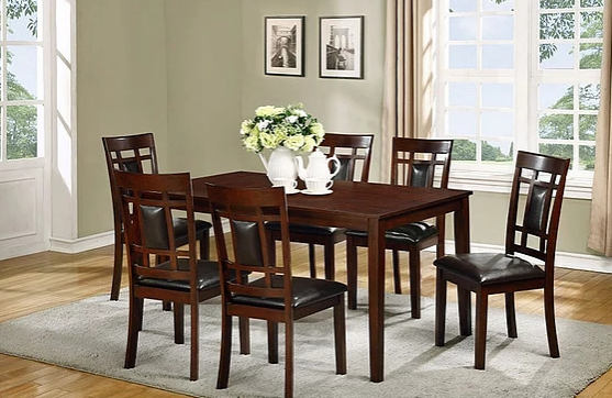 Dining Table w/ 6 Chairs | Bella Furniture and Mattre