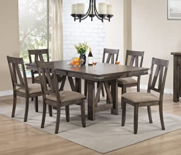 Amazon.com - Kings Brand Furniture Brown Wood Rectangle Dining .