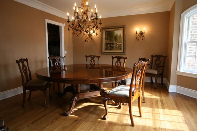 72 Round Brown Mahogany Formal Dining Room Table (AP 72 WAL) in .