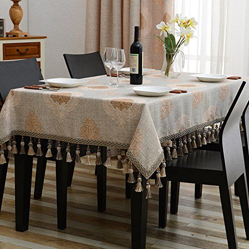 WFLJL European Style Tablecloth Cotton decoration kitchen Coffee .