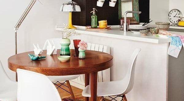 small apartment dining table set round wood | Apartment dining .