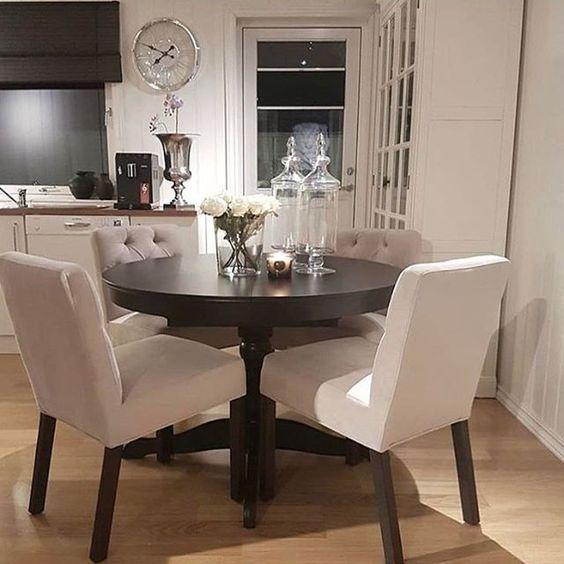 ♡ ᒪOᑌIᔕE ♡   Small dining room decor, Apartment dining .