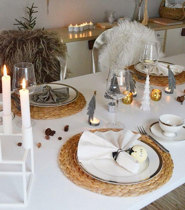 28 Christmas dinner table decorations and easy DIY Ideas | Dinner .